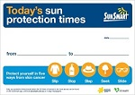 Sun protection times poster / sign